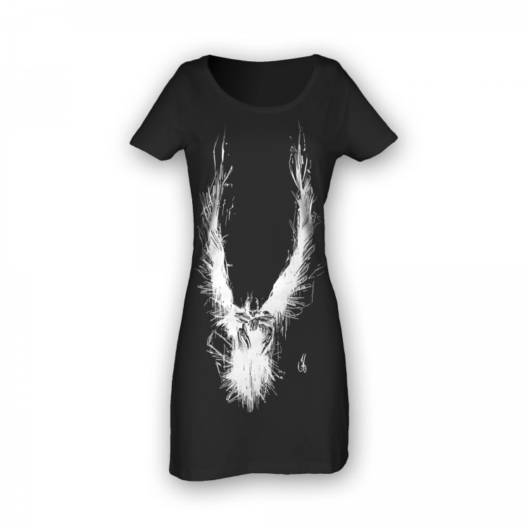 'ANGEL' BLACK COTTON DRESS