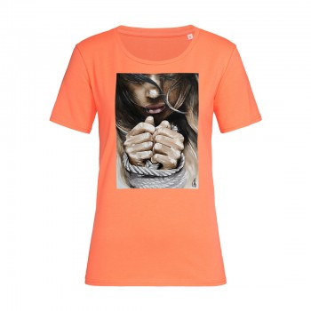 'FREE SOUL' SALMON T-SHIRT FOR WOMEN
