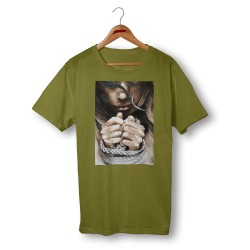 'FREE SOUL' GREEN ORGANIC COTTON UNISEX T-SHIRT