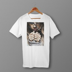 'FREE SOUL' WHITE ORGANIC COTTON UNISEX T-SHIRT