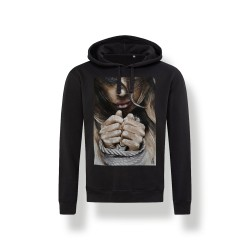 'FREE SOUL' BLACK UNISEX HOODED SWEATSHIRT