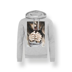 'FREE SOUL' GREY UNISEX HOODED SWEATSHIRT