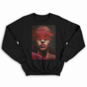 'LOVE IS BLIND' BLACK UNISEX SWEATSHIRT