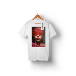 'LOVE IS BLIND' WHITE ORGANIC COTTON UNISEX T-SHIRT