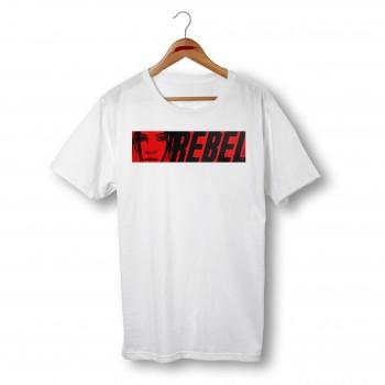 'REBEL' WHITE UNISEX T-SHIRT