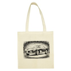 'RETRO AUTO' SANDY COTTON SHOPPING BAG