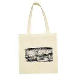 'RETRO AUTO 2' SANDY COTTON SHOPPING BAG