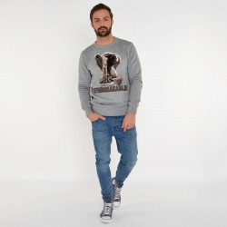 GREY SWEATSHIRT FOR MEN UNBREAKABLE
