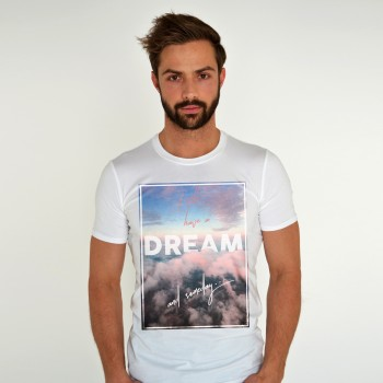 WHITE T-SHIRT FOR MEN 'I HAVE A DREAM'