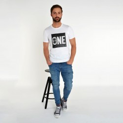 WHITE T-SHIRT FOR MEN NUMBER ONE
