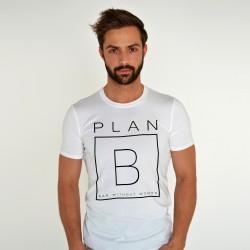 WHITE T-SHIRT FOR MEN PLAN B