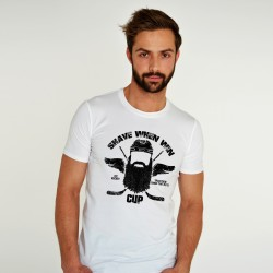 WHITE T-SHIRT FOR MEN SHAVE WHEN WIN