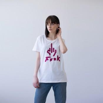 WHITE T-SHIRT FOR WOMEN 'F**k'