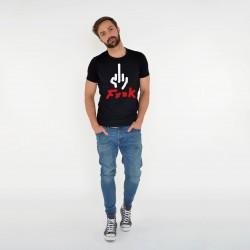 BLACK T-SHIRT FOR MEN F***