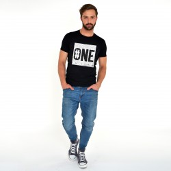 BLACK T-SHIRT FOR MEN NUMBER ONE