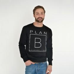BLACK SWEATSHIRT FOR MEN PLAN B