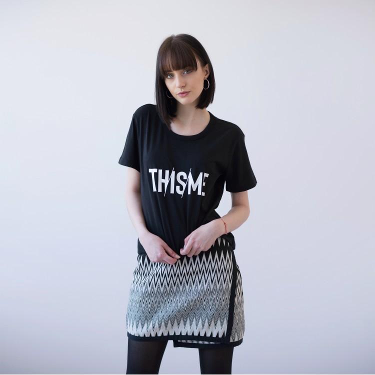 BLACK UNISEX T-SHIRT FOR WOMEN 'THISME' (SHINING IN THE DARK)