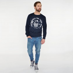 'TOUCH GAMES FOR TOUCH MEN' NAVY SWEATSHIRT FOR MEN