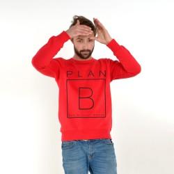 RED SWEATSHIRT FOR MEN PLAN B