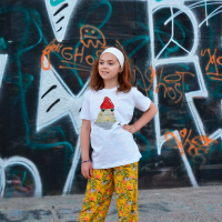 'FROG' WHITE ORGANIC COTTON T-SHIRT FOR KID