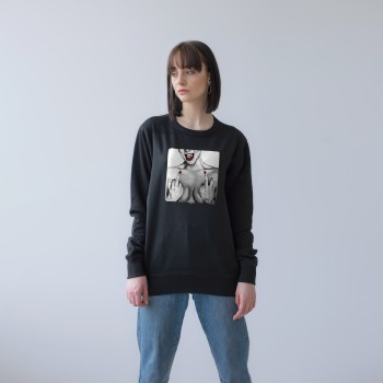 BLACK UNISEX SWEATSHIRT FOR WOMEN 'I'M WHO I'M & I DON'T CARE'