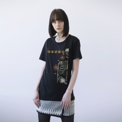 BLACK UNISEX T-SHIRT FOR WOMEN 'SKELETON'