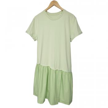 'GREEN LIGHT' STEM GREEN DRESS