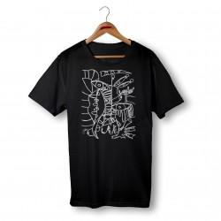 'TEMPTATION' BLACK ORGANIC COTTON UNISEX T-SHIRT