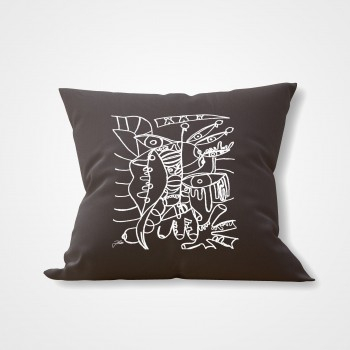 GREY INTERIOR PILLOW 'TEMPTATION'