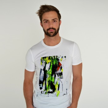 WHITE T-SHIRT FOR MEN ACID