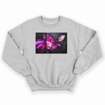 'COSMIC FLOWERS' GREY UNISEX SWEATSHIRT