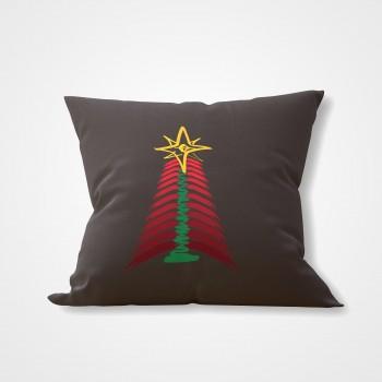 GREY INTERIOR PILLOW ARTON CHRISTMAS TREE