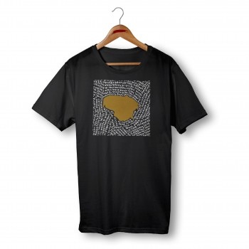 'HYMN' BLACK ORGANIC COTTON UNISEX T-SHIRT