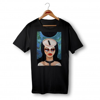 'MATERIAL GIRL' BLACK ORGANIC COTTON UNISEX T-SHIRT