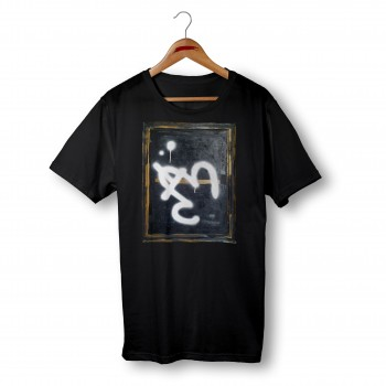 'ABSTRACT' BLACK ORGANIC COTTON UNISEX T-SHIRT