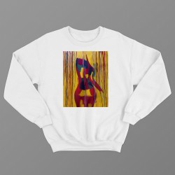 'BACK IN COLOR' WHITE UNISEX SWEATSHIRT