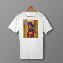 'BACK IN COLOR' WHITE ORGANIC COTTON UNISEX T-SHIRT