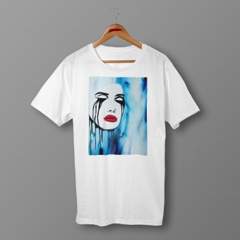'CRYING SOUL' WHITE ORGANIC COTTON UNISEX T-SHIRT