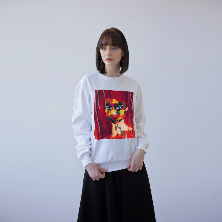 WHITE UNISEX SWEATSHIRT FOR WOMEN 'TOLERANCE'