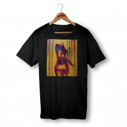 'BACK IN COLOR' BLACK ORGANIC COTTON UNISEX T-SHIRT