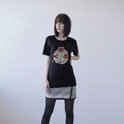 BLACK UNISEX T-SHIRT FOR WOMEN 'FISH'