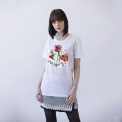 WHITE UNISEX T-SHIRT FOR WOMEN 'FISH'