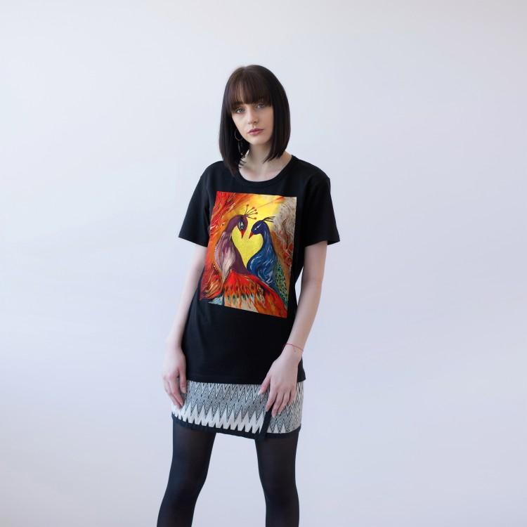 BLACK T-SHIRT FOR WOMEN 'LOVE'
