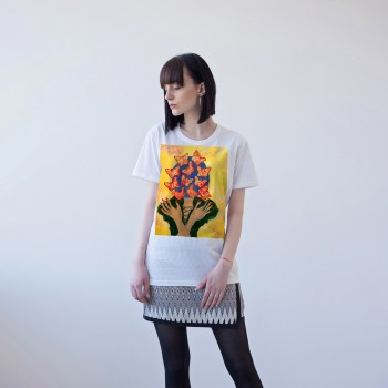 WHITE T-SHIRT FOR WOMEN 'WHAT'S IN OUR MIND'